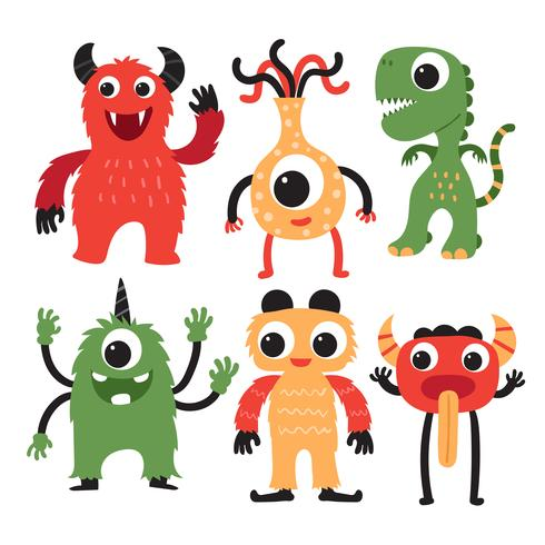 design della collezione di mostri