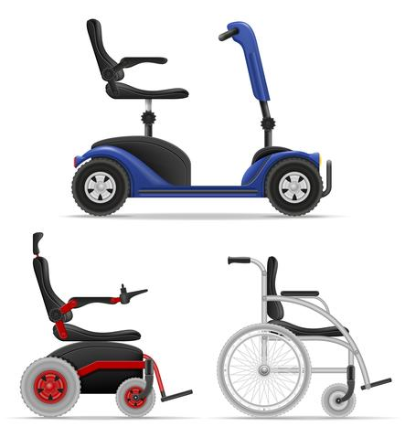 wheelchair for disabled people stock vector illustration