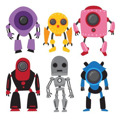 diseño de la colección de vectores de robots