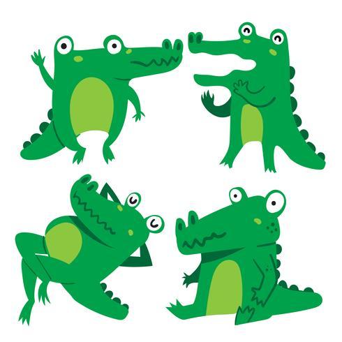 projeto de vetor de personagem de crocodilo