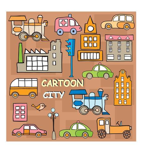 Città in stile cartone animato