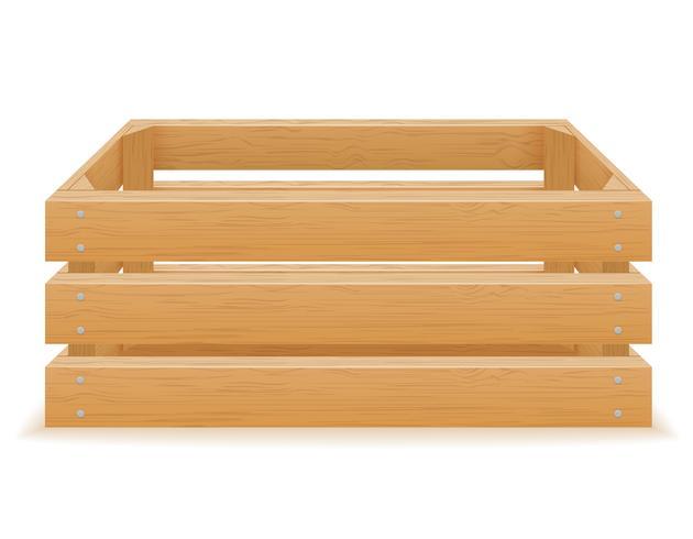 ilustração em vetor vazio caixa de madeira