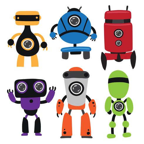 robots vector collection design