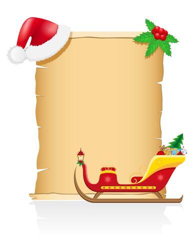 vintage kerst lege scroll vectorillustratie