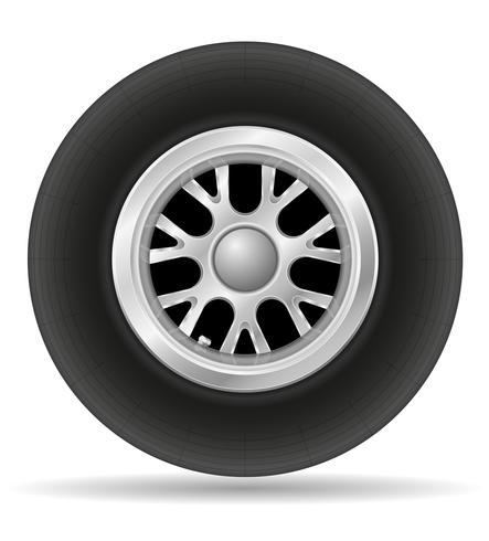 hjul för racerbil vektor illustration EPS 10
