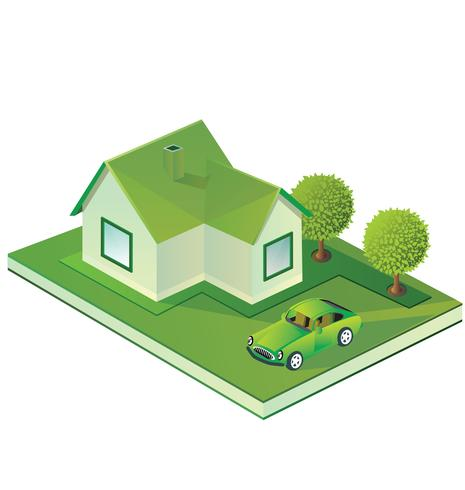 Isometric farmhouse - Download Free Vector Art, Stock Graphics & Images