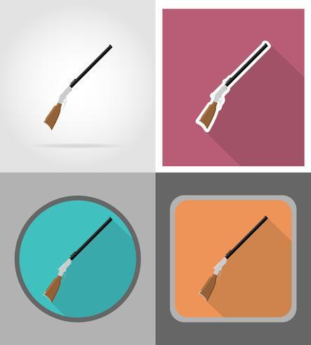 fusil icônes far west plates vector illustration