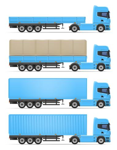 Ilustración de vector de camión semi remolque
