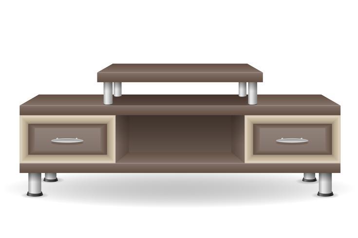 tv table furniture vector illustration