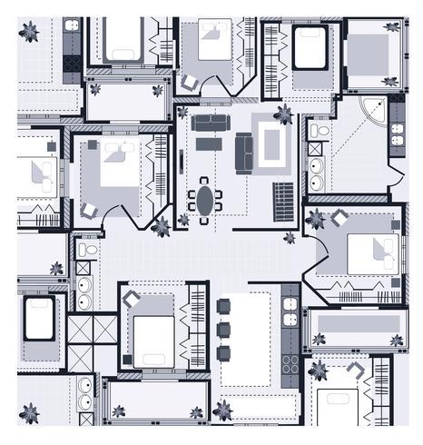 Plano da Casa Cinza