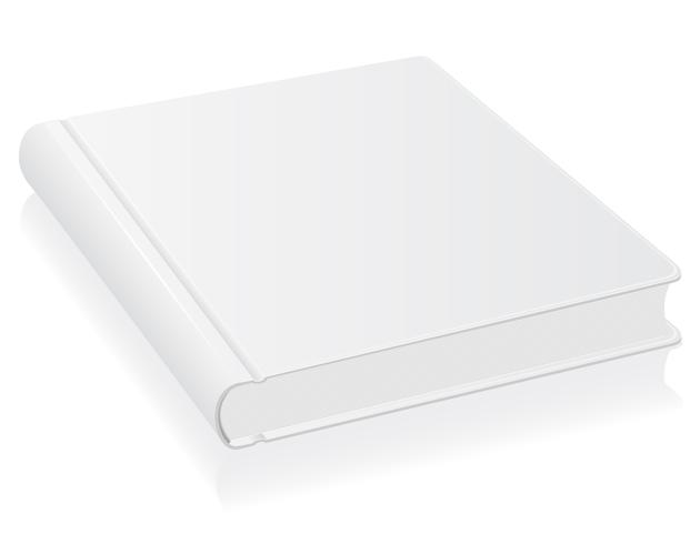Ilustración de vector de libro blanco