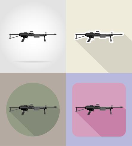 moderne wapen vuurwapens plat pictogrammen vector illustratie