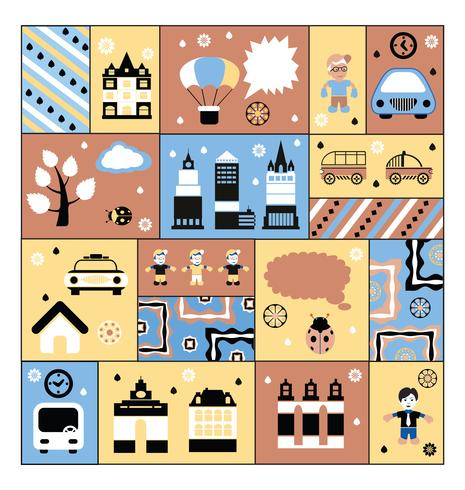 Urban facilities and people vector