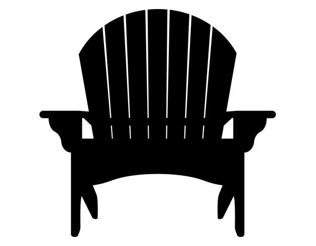 illustrazione di vettore della siluetta di contorno del nero della poltrona o della spiaggia del giardino