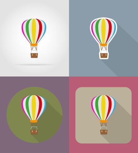 air balloon flat icons vector illustration