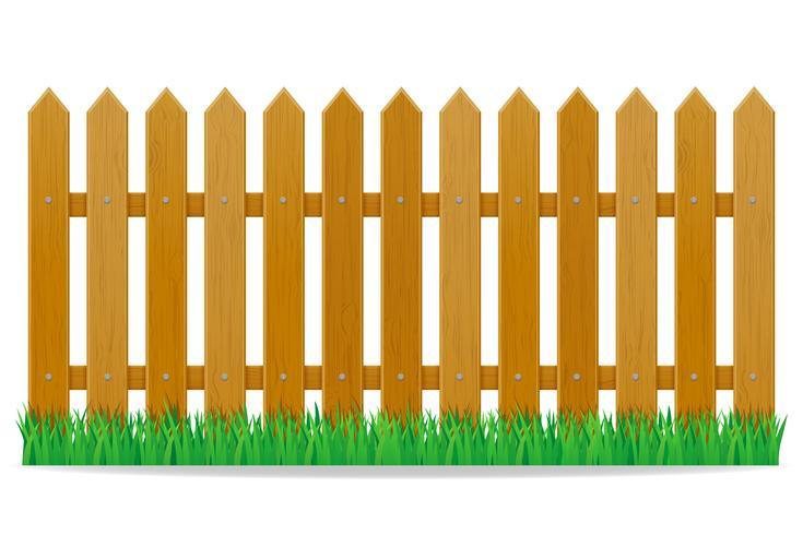 wooden fence vector illustration
