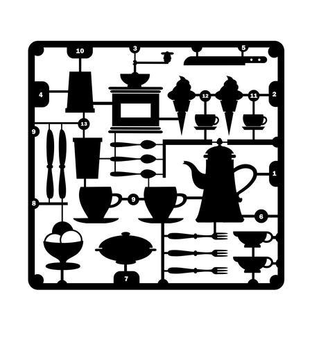 A set of restaurant vector