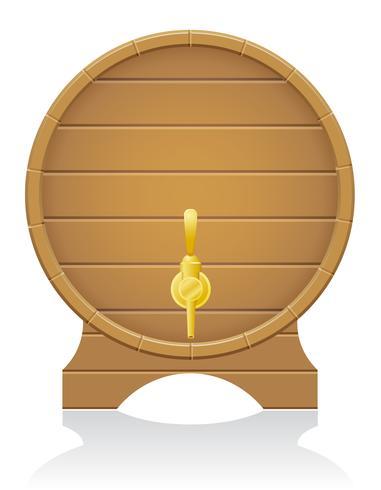 Ilustración de vector de barril de madera