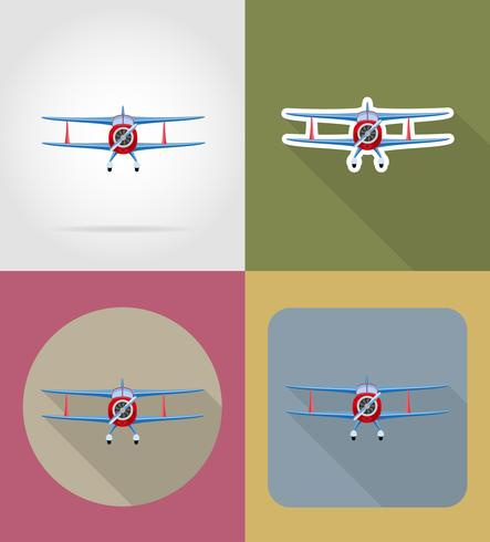 icônes plat avion vector illustration