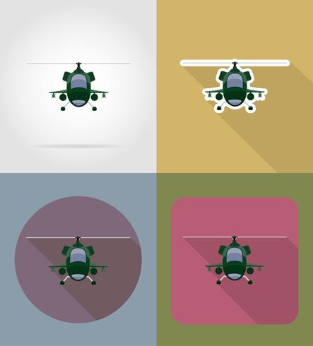 Helicóptero plano iconos vector illustration