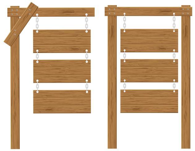 tableros de madera signos vector illustration