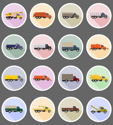 truck flat icons vector illustration