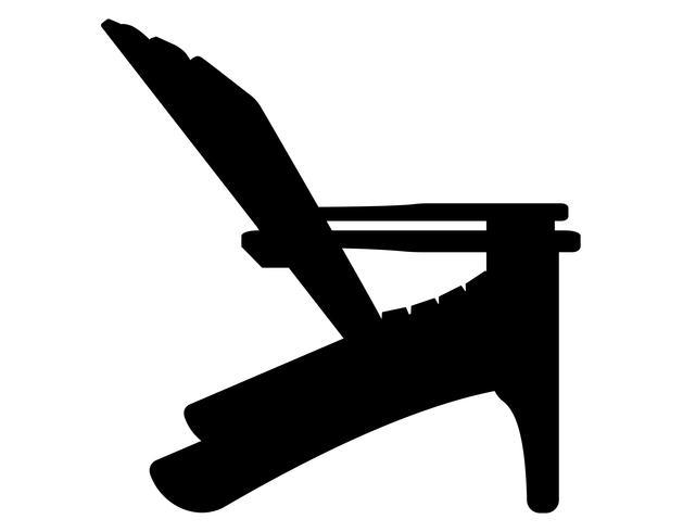 fauteuil de plage ou de jardin noir contour silhouette illustration vectorielle vecteur