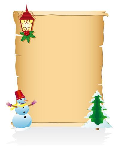 Ilustración de vector de desplazamiento en blanco de Navidad vintage