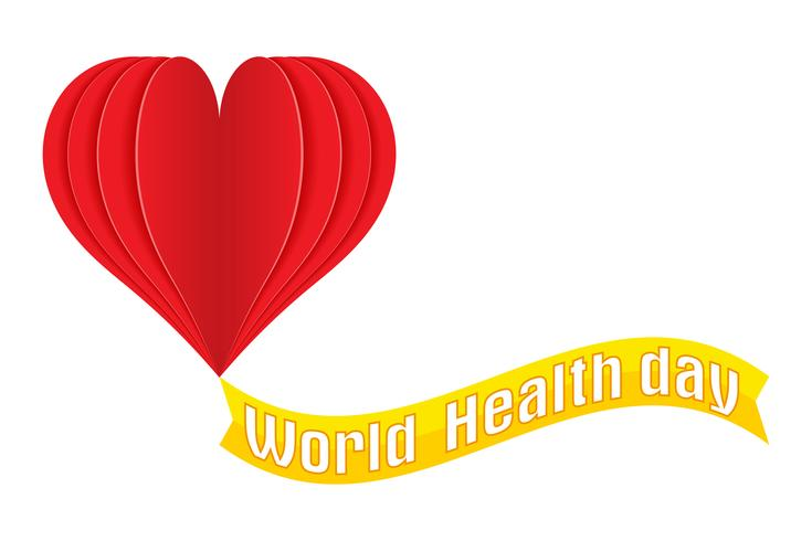 world health day logo text banner vector illustration