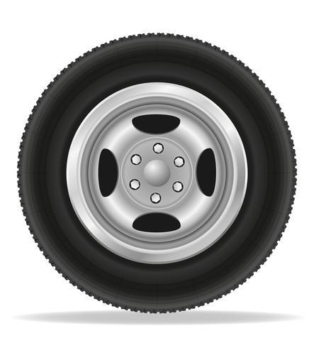 ruota per illustrazione vettoriale auto