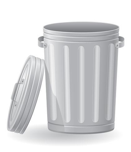 lixo pode vector a ilustração