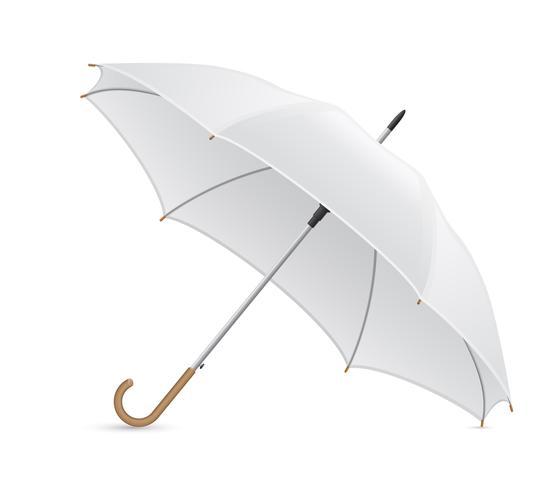 weiße Regenschirmvektorabbildung