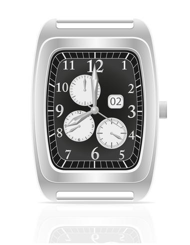 silver mekaniska armbandsur vektor illustration