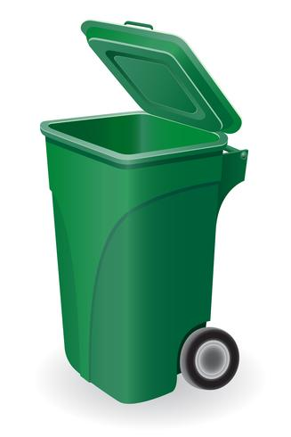 bote de basura vector ilustración