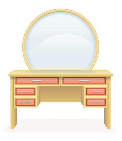 vanidad mesa moderna muebles vector illustration