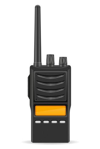 walkie-talkie communicatie radio vector illustratie