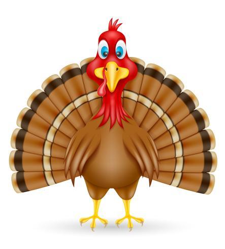 Ilustración de vector de aves de Turquía