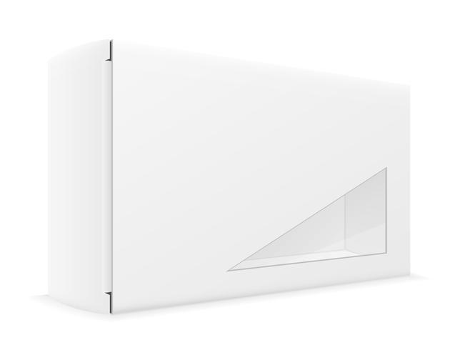 illustrazione vettoriale di imballaggio scatola di cartone di carta bianca