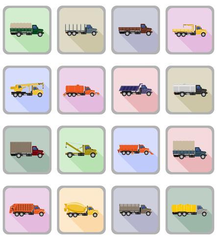 camion plat icônes vector illustration