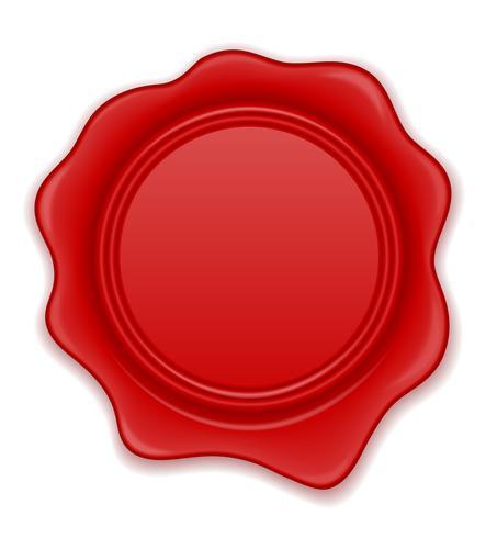 ilustração em vetor selo cera vermelha