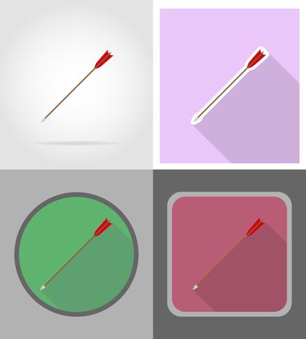 arrows for bowwild west flat icons vector illustration