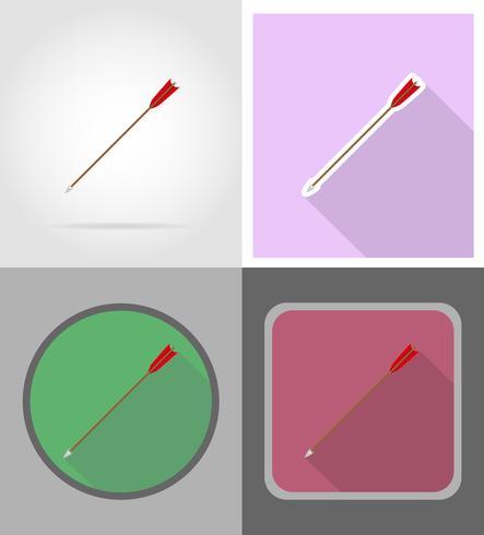 setas para ilustração em vetor ícones ocidentais bowwild plana