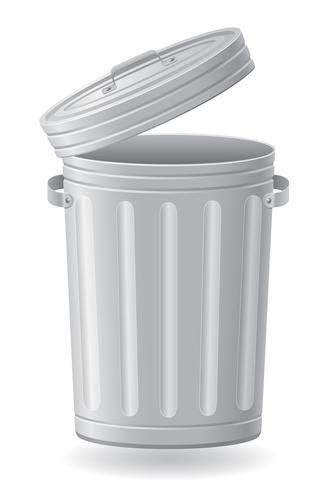 poubelle peut vector illustration