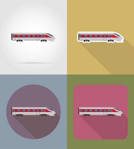 entrenar iconos planos vector illustration
