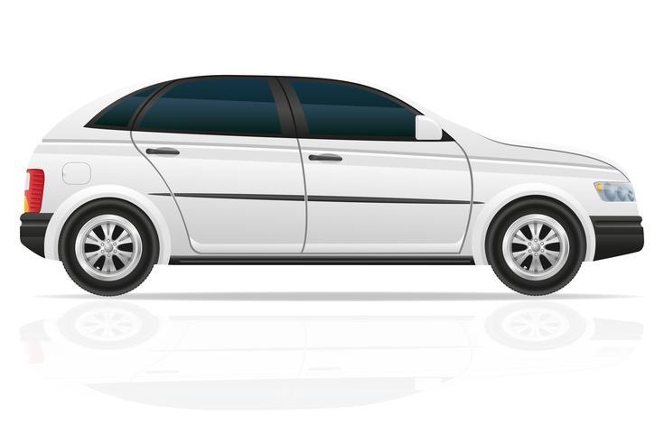 Ilustración de vector de auto hatchback