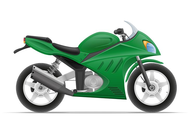 illustration vectorielle moto