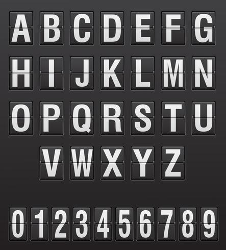 scorebord Engelse letters en cijfers vector illustratie