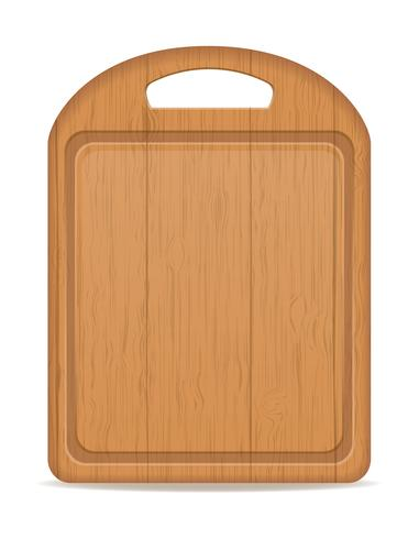Holz Schneidebrett-Vektor-Illustration