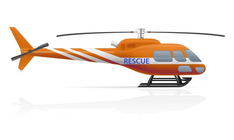 ilustração em vetor helicóptero de resgate