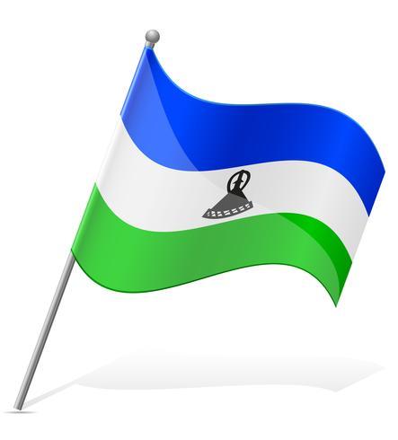 Flagge der Lesotho-Vektorillustration